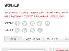 Social Feed Layout